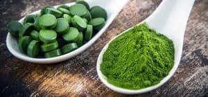 tabletki i mielony zielony jęczmień