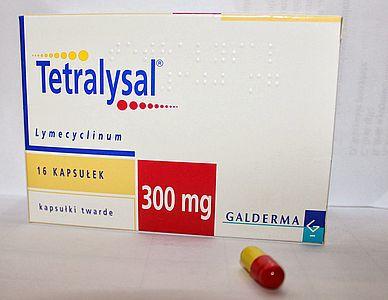 Tetralysal, tabletki na trądzik