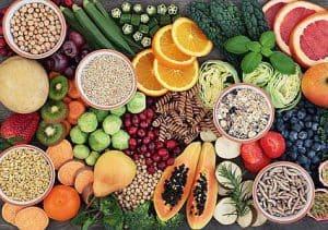warzywa owoce i ziarna zbóż