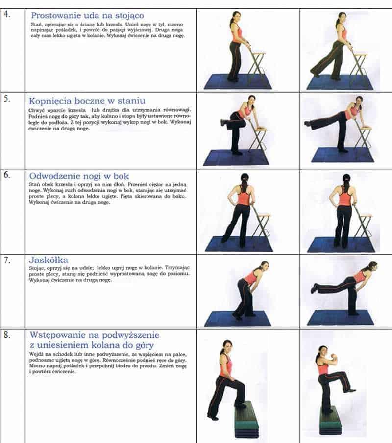 plan ćwiczeń na uda