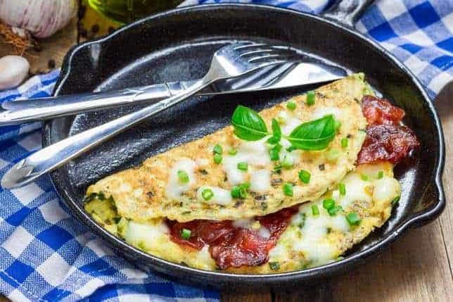 omlet na patelni
