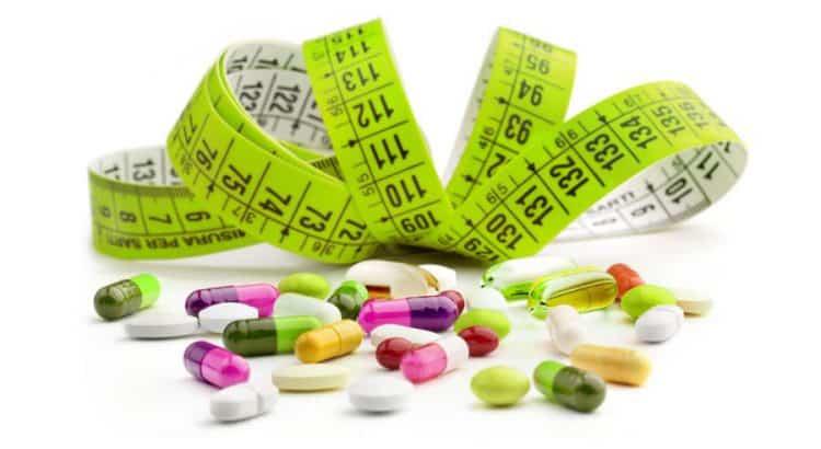 tabletki i miarka krawiecka