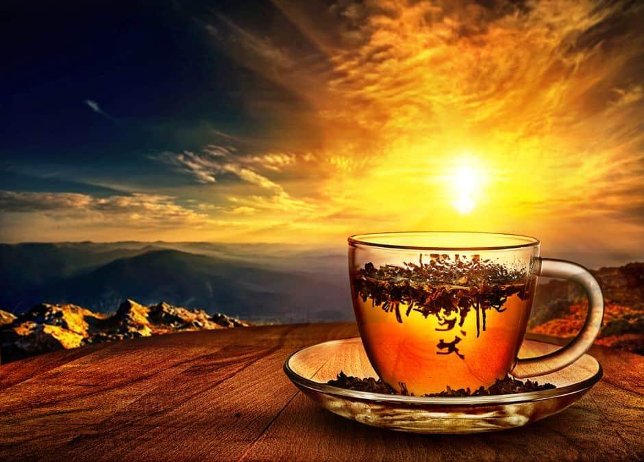 filiżanka czerwonej herbaty