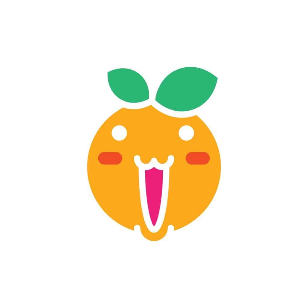rysunek uśmiechniętej pomarańczy