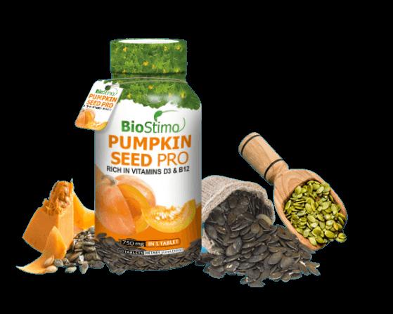 Pumpkin Seed Pro rozsypane ziarna na stole