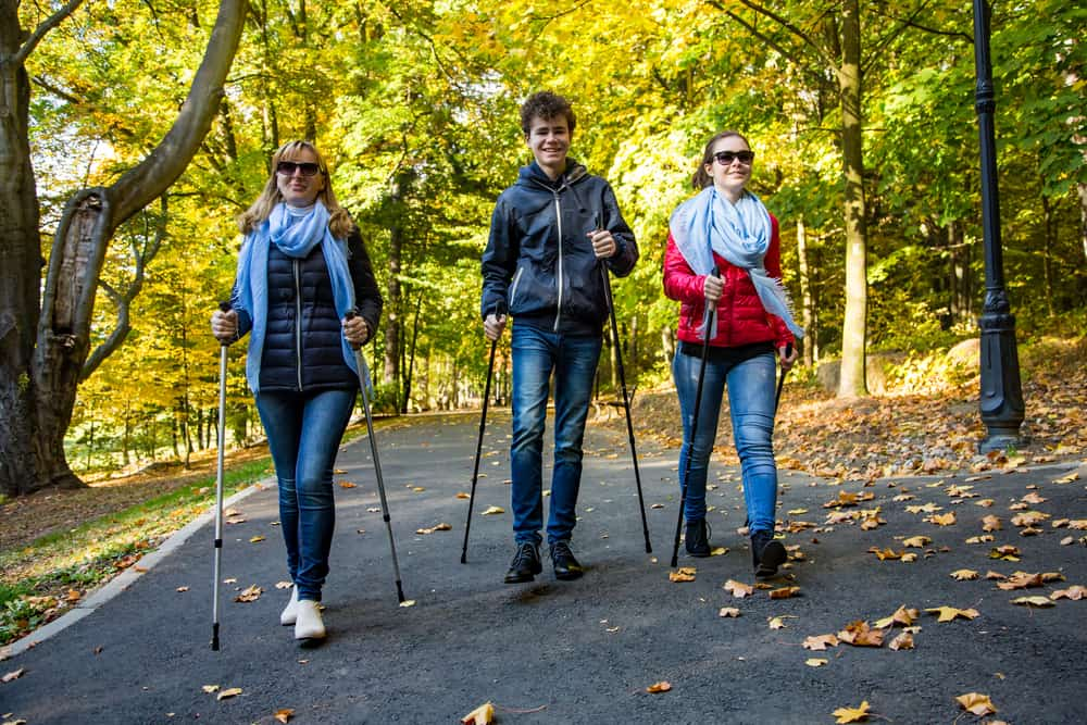 Nordic Walking w parku