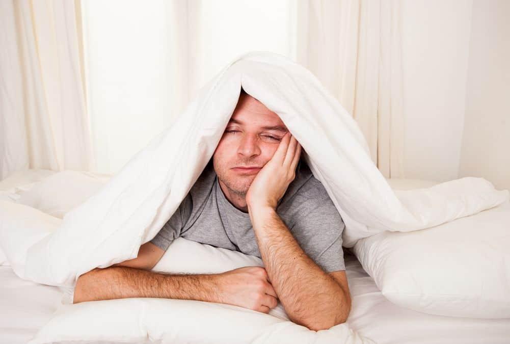 Mężczyzna nie może spać